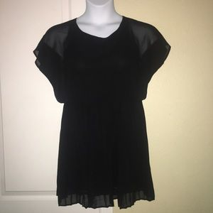 Pleated Blousy LBD cocktail dress